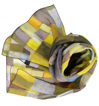 Foulard en soie Architektur de Klee