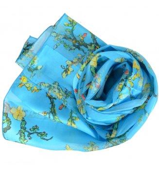 Foulard en soie Amandiers de Van Gogh