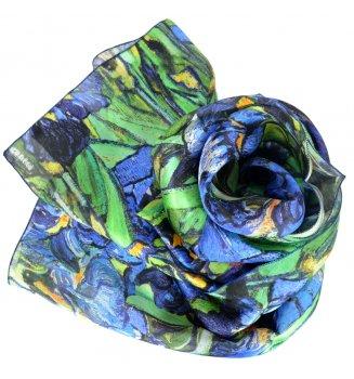 Foulard en soie Les Iris de Van Gogh