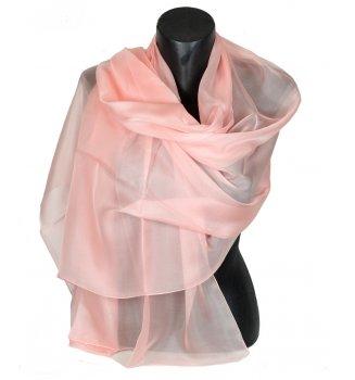 Etole en mousseline de soie rose clair