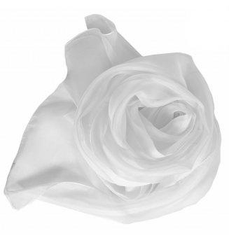 Foulard en mousseline de soie blanc