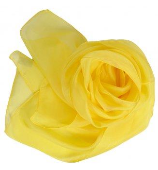 Foulard en mousseline de soie jaune