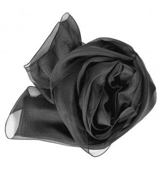 Foulard en mousseline de soie noir