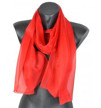 Foulard en mousseline de soie rouge