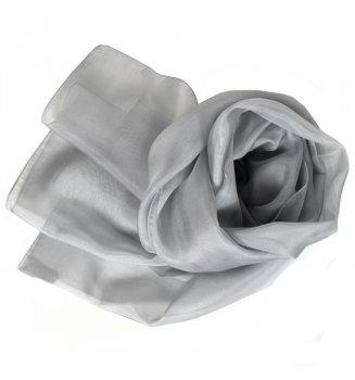 Foulard en mousseline de soie gris