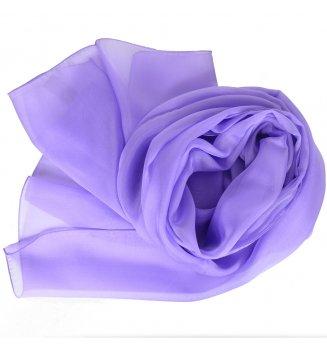 Foulard en mousseline de soie mauve