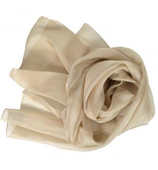 Foulard en mousseline de soie beige