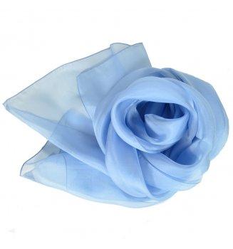 Foulard en mousseline de soie bleu ciel
