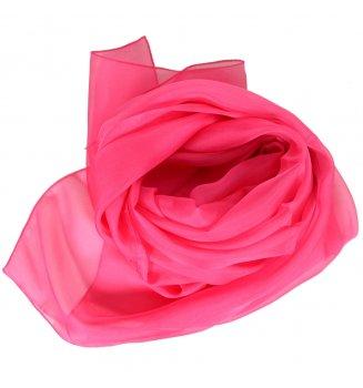 Foulard en mousseline de soie rose fuchsia