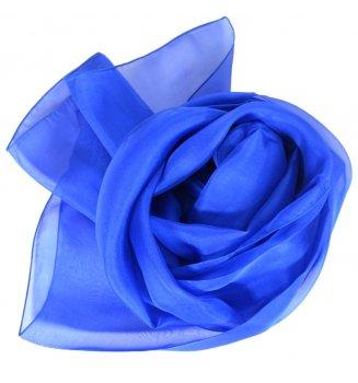 Foulard en mousseline de soie bleu électrique