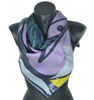 Carré en soie Nu au bouquet d'iris et au miroir de Picasso