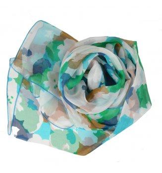 Foulard en soie puzzle vert