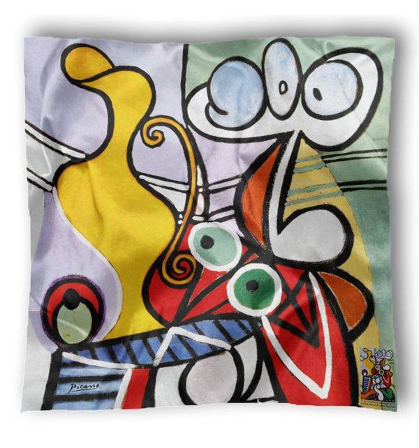 Carré en soie Grande nature morte au guéridon de Picasso