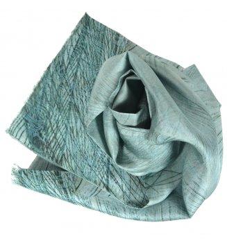 Foulard en soie homme Plumes