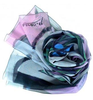 Foulard en soie Nu au bouquet d'Iris et au miroir de Picasso