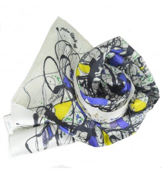 Foulard en soie Summertime de Pollock