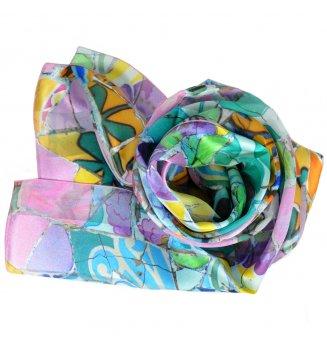 Foulard en soie Fleurs Mauresques de Gaudi