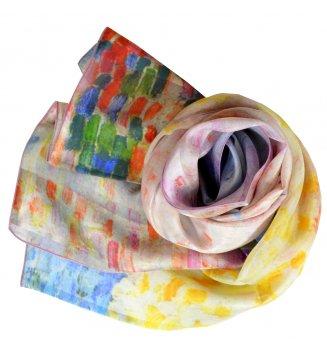 Foulard en soie Nuages roses Antibes de Signac