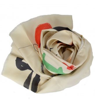 Foulard en soie Makimono de Miro