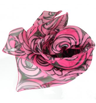 Foulard en soie Rose et Larme de Mackintosh