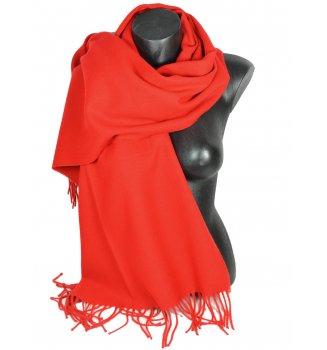 Châle uni acrylique Sira rouge