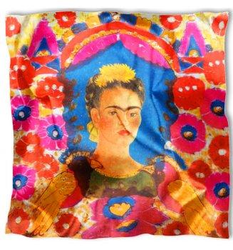 Carré en soie Le portrait de Kahlo